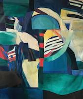 Composition 019 * Acrylic on Canvas, 60'' x 50'' • 1968