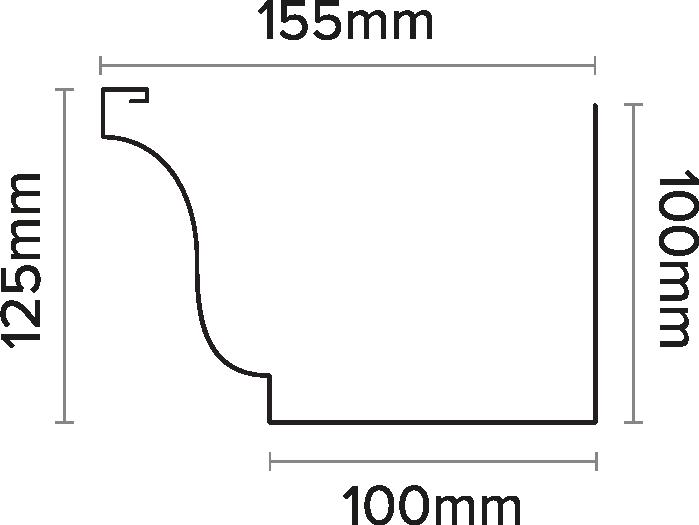 150mm Ogee Gutter