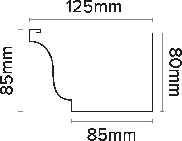 125mm Ogee Gutter