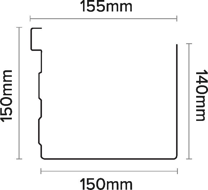 155mm Box Gutter