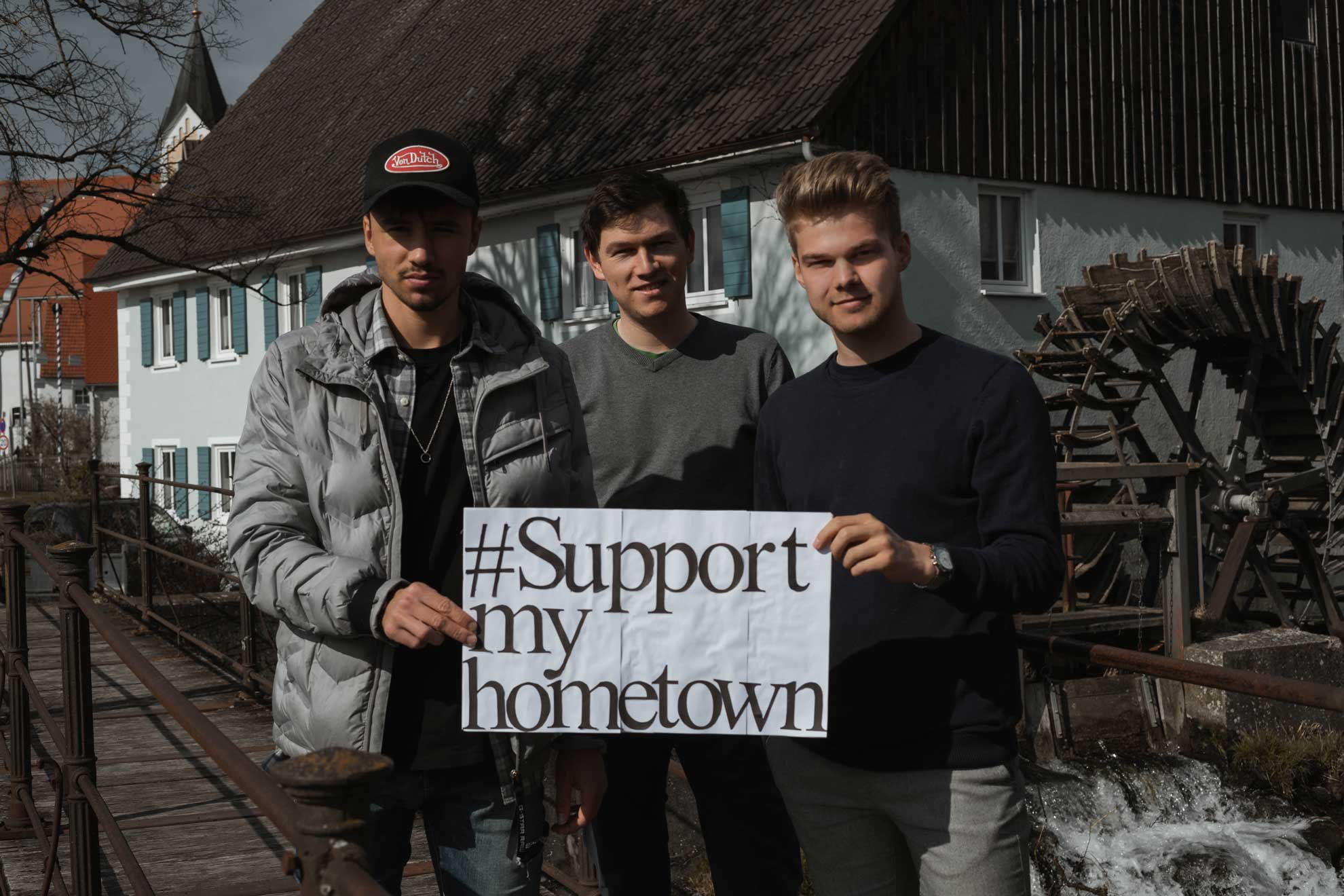 Gründer von Support My Hometown v.l. Maximilian Vihl, Max Gartner, Tizian Fendt