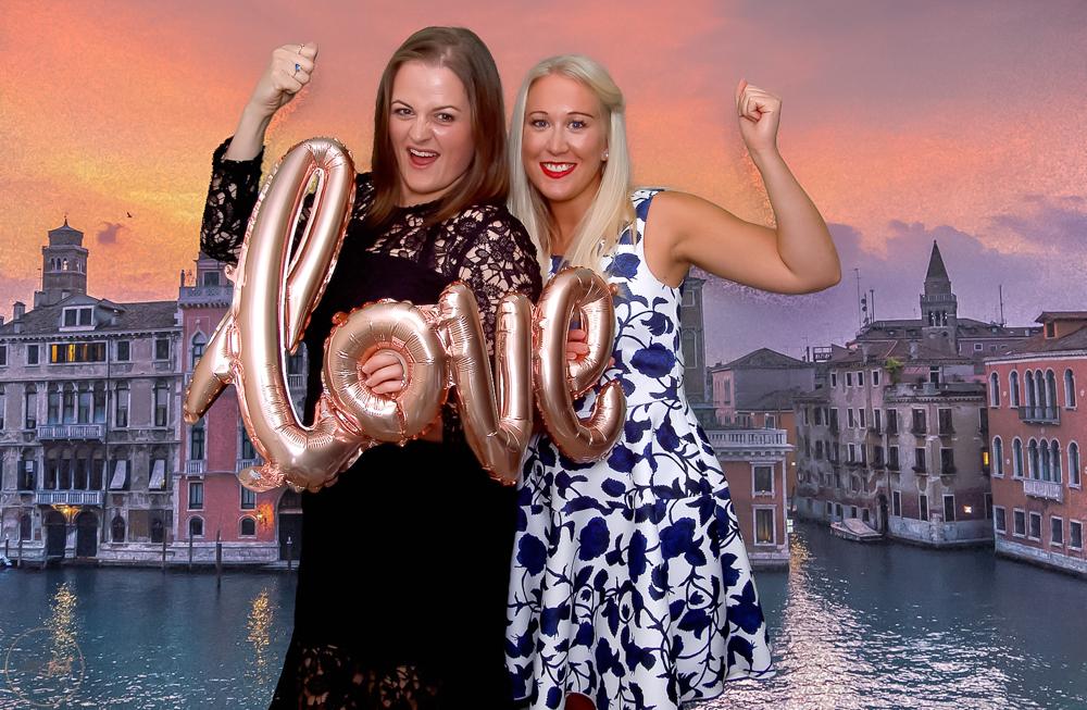 Italian Inspired Green Screen Photobooth for Wedding