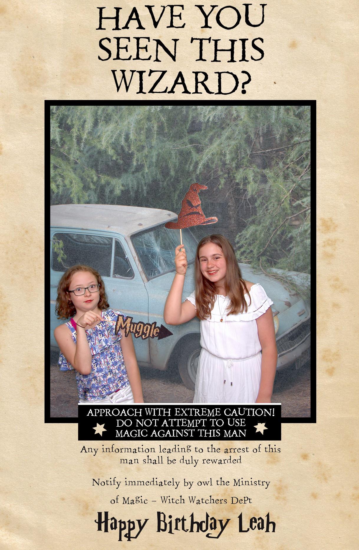Harry Potter Inspired Photobooth