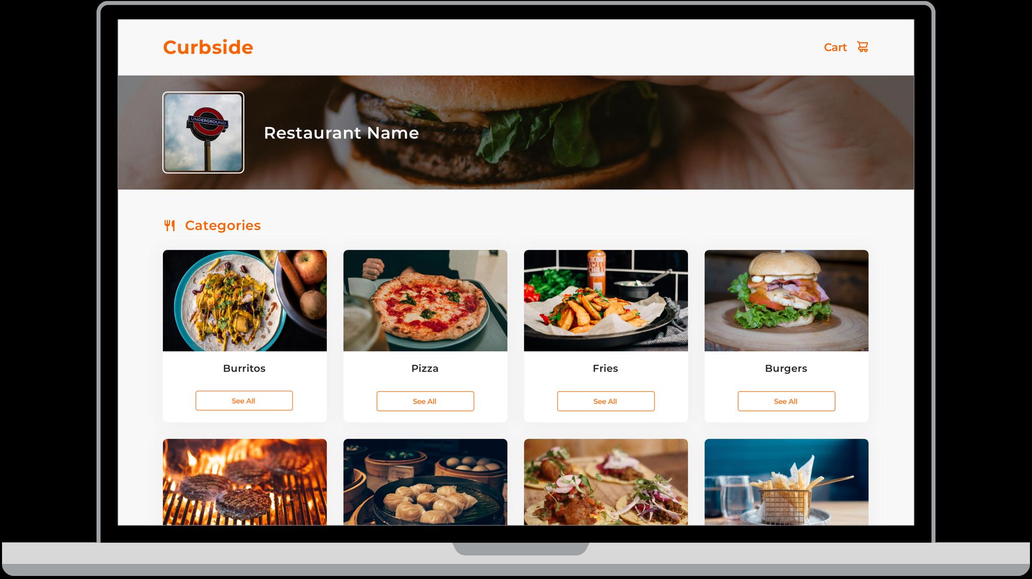 curbside-web-app-user-interface