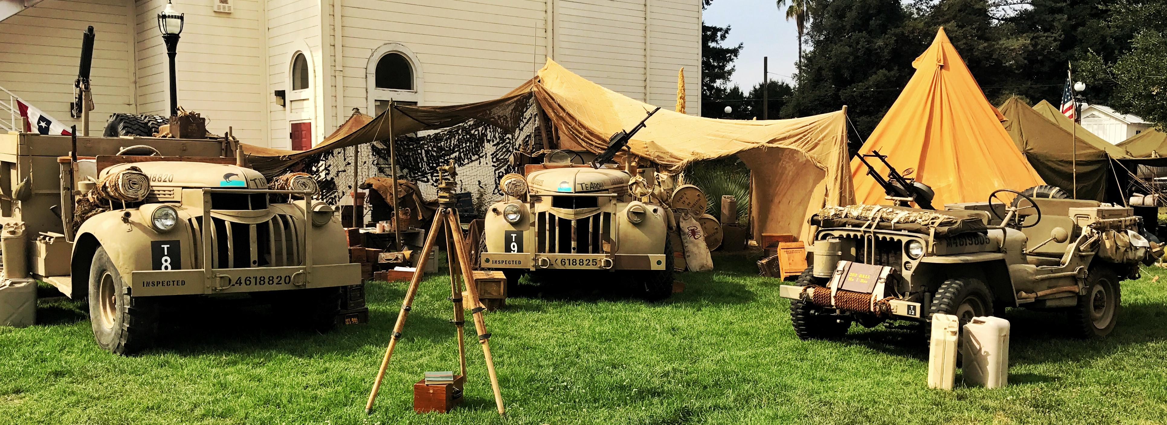 LRDG Trucks and Jeep Display