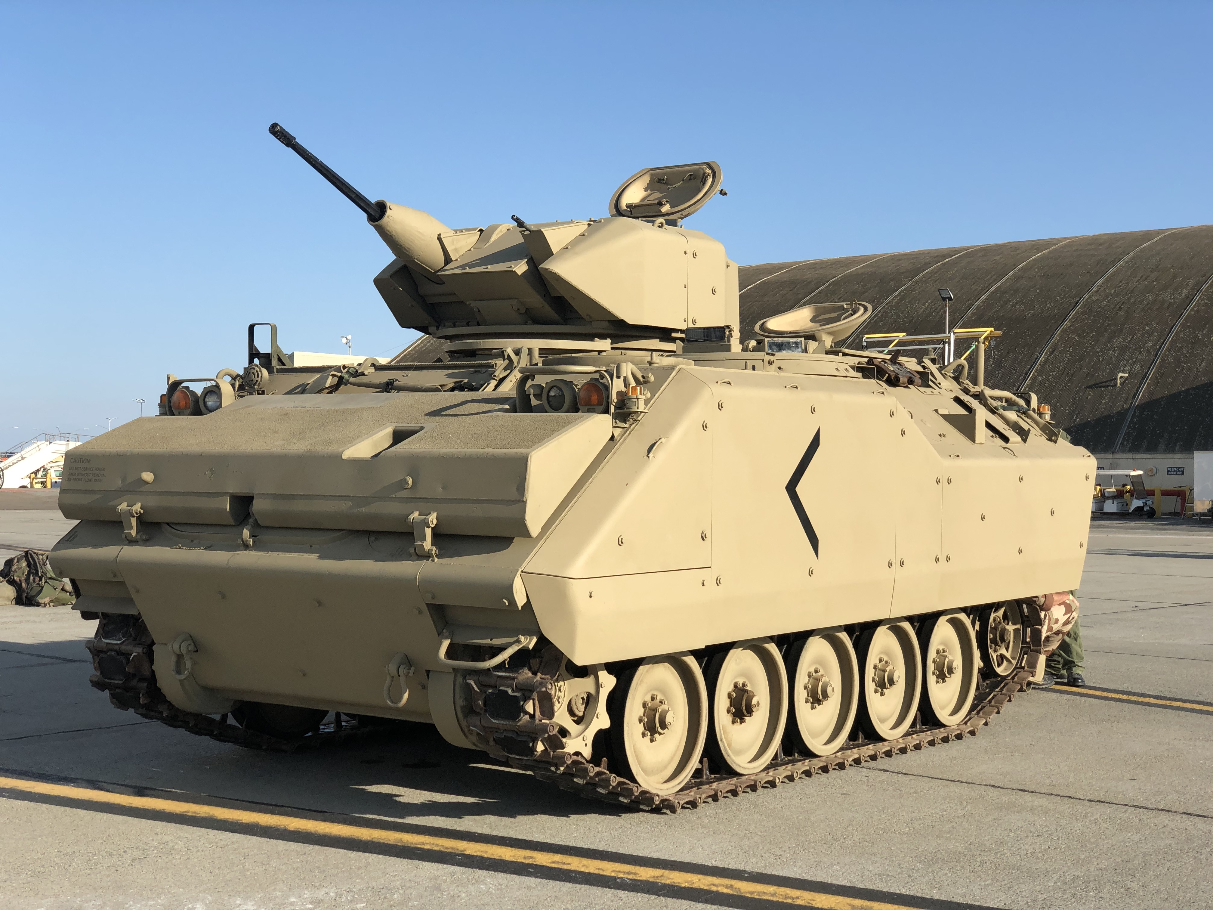 AIFV - Armored Infantry Fighting Vehicle. An EFF display vehicle.