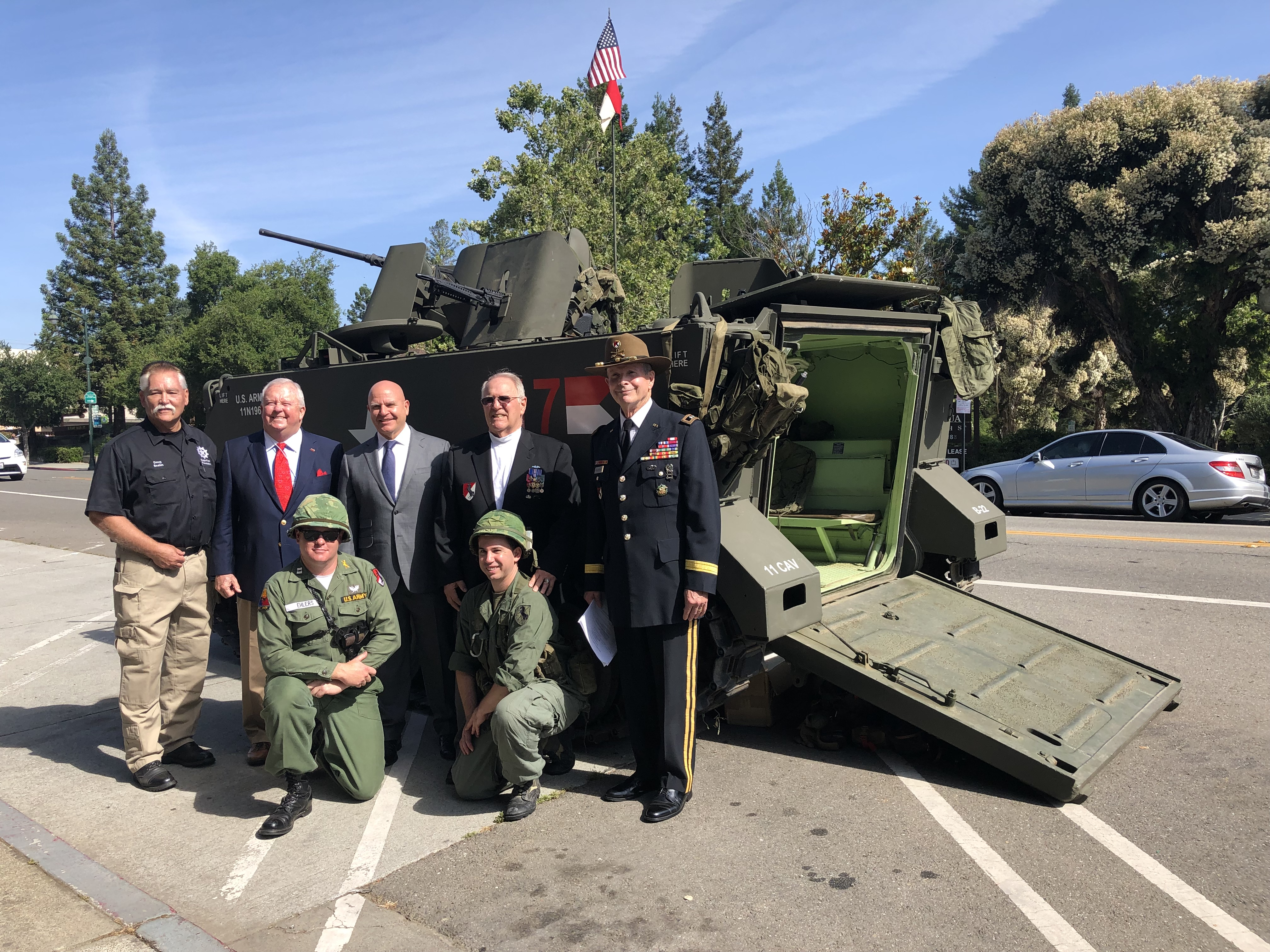 EFF senior staff and Military guests - HR McMaster.