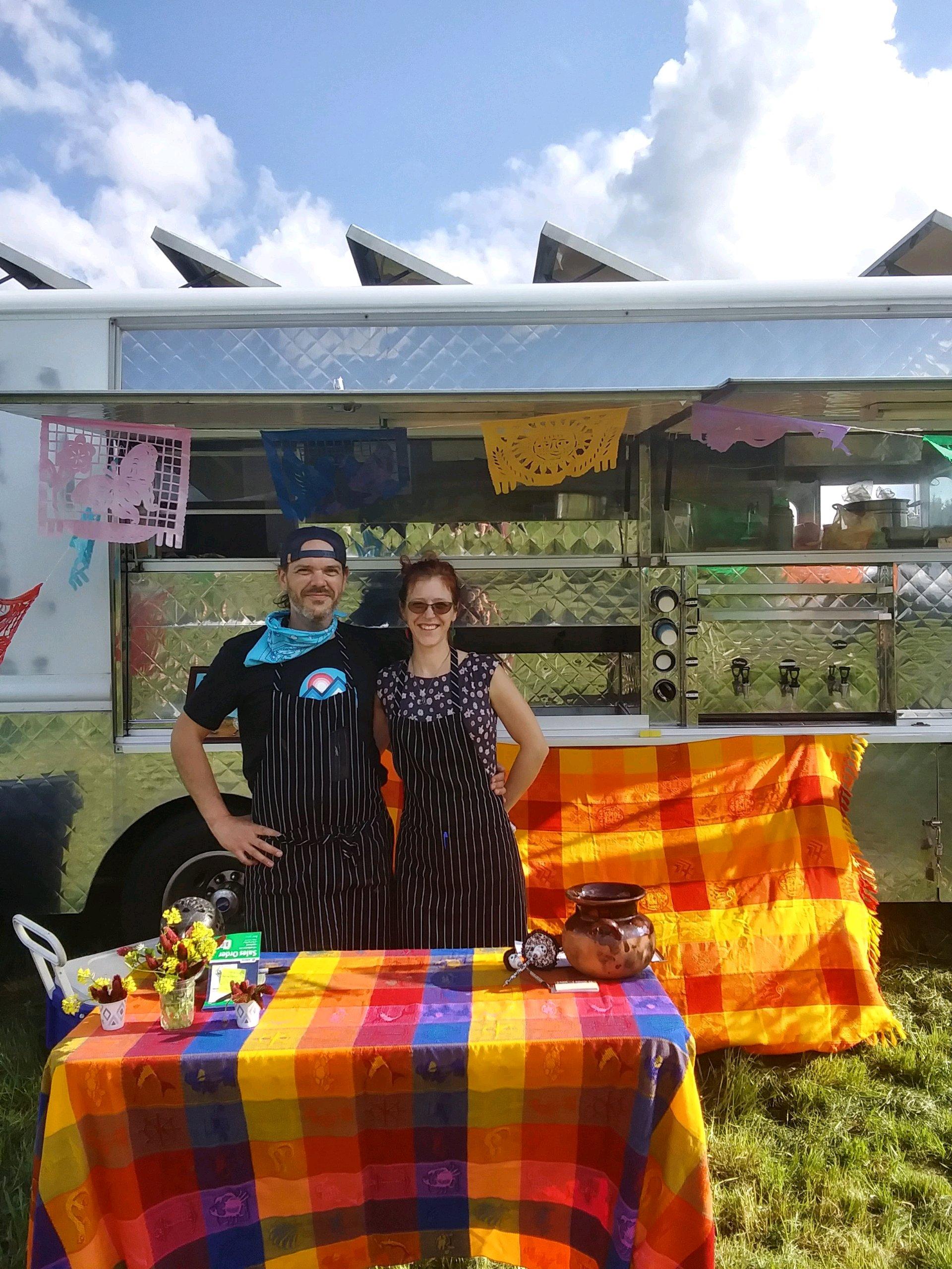 Rodrigo and Mary, husband and wife, chef/owners of Comida KIN food truck in Hillsboro, OR