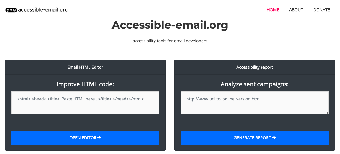 how to make websites accessible for visually impaired