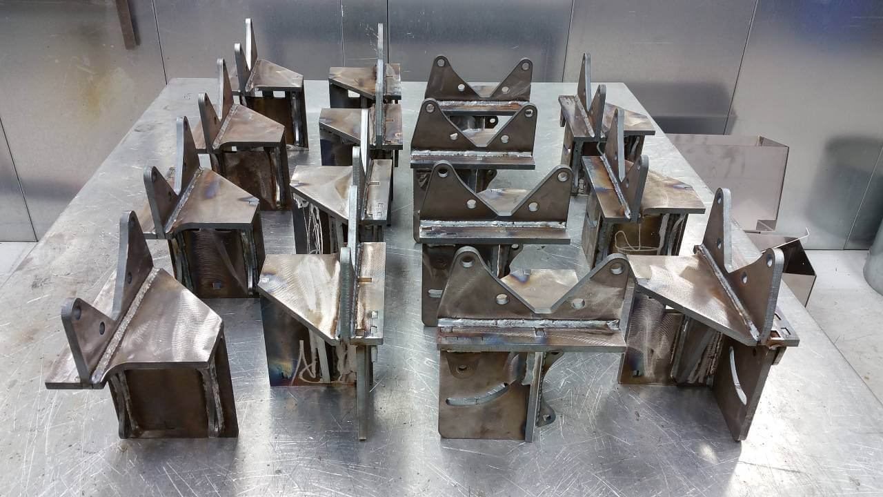 metal parts cut and welded