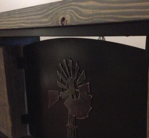 custom farmhouse furniture metal windmill