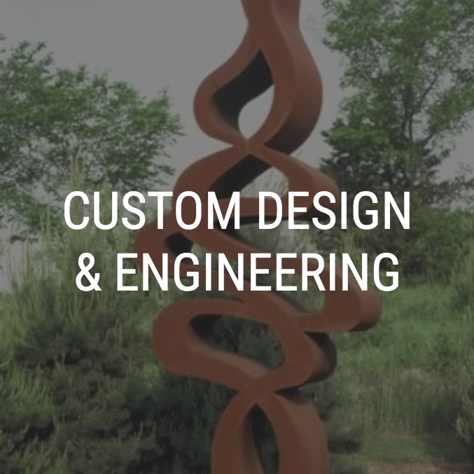 curvy sculpture that Artisan Forge MetalWorks made