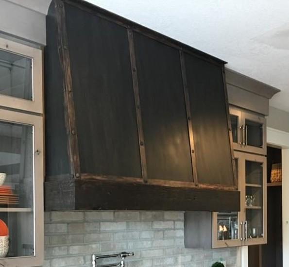 metal stove hood