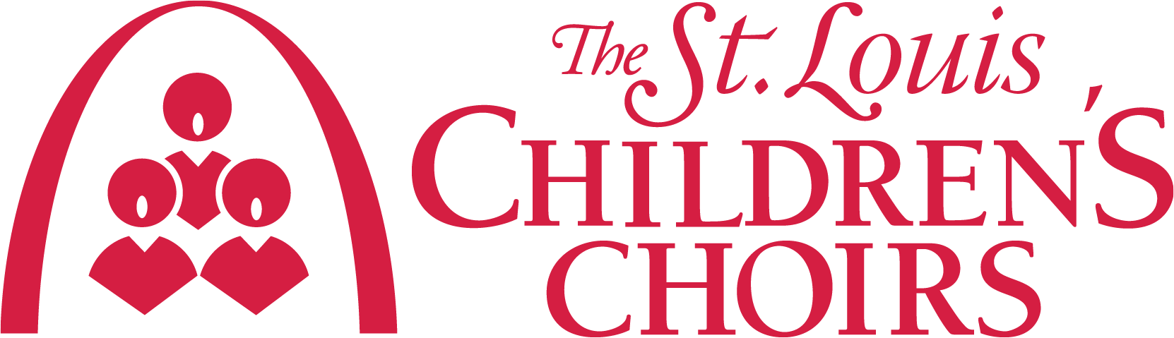 The Saint Louis Children's Choirs White Logo