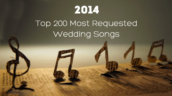 Top 200 Most Requested Wedding Songs