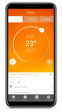 neoApp home screen