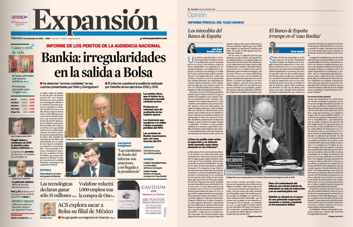 El Banco de España irrumpe en el caso Bankia
