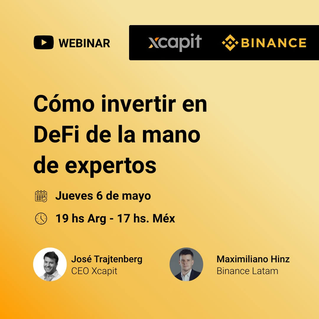 Binance y Xcapit te invitan a un evento online