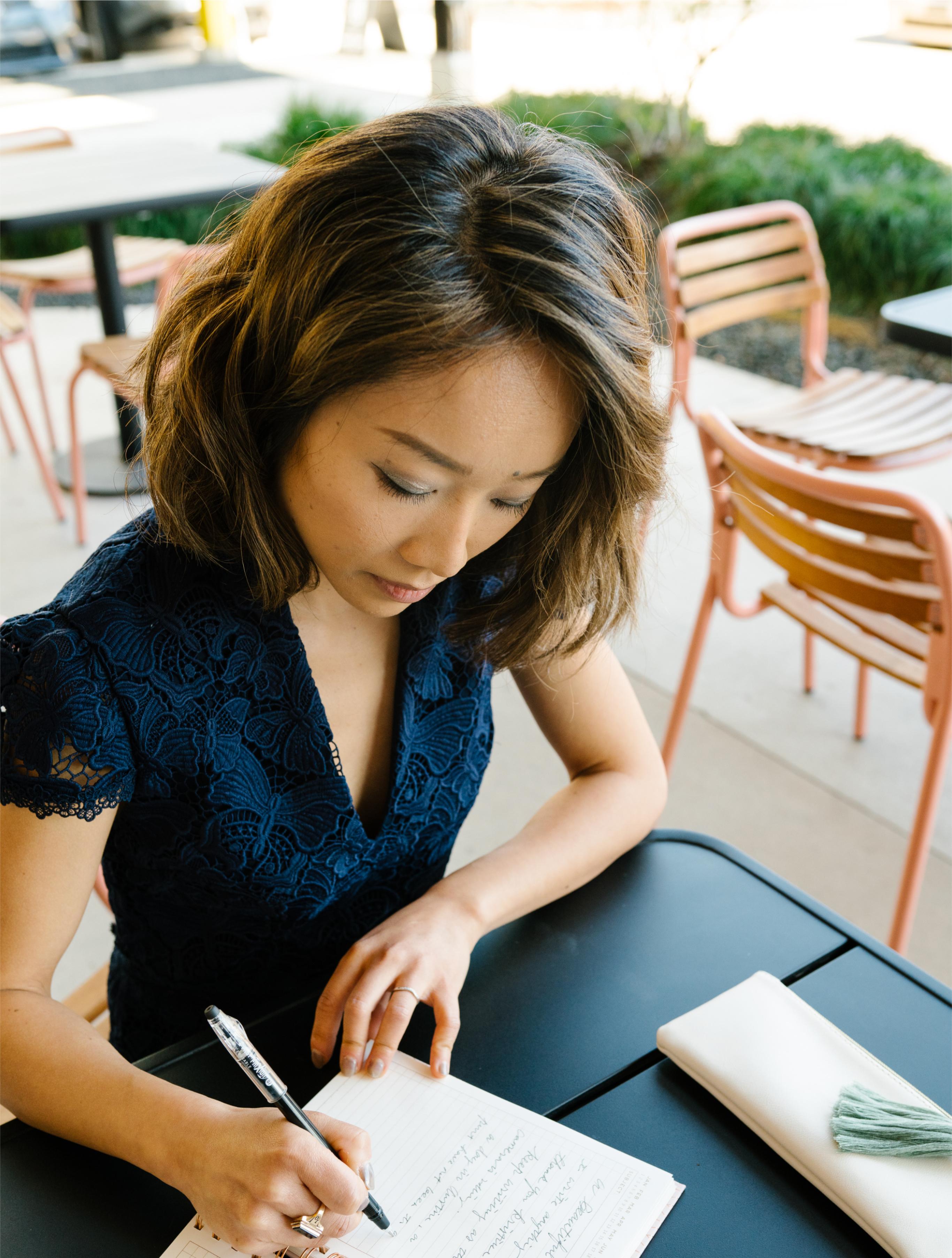 Allison Li taking notes
