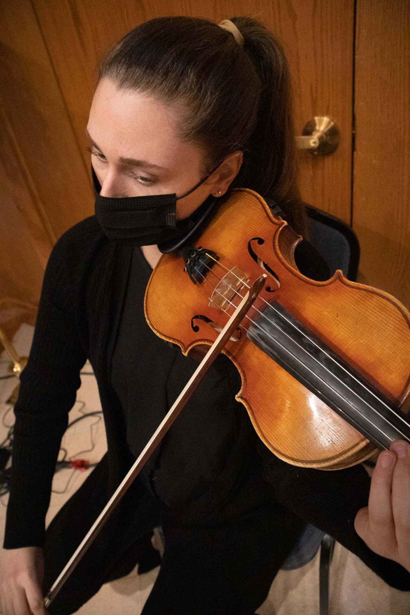 Violinist Haydn Jones