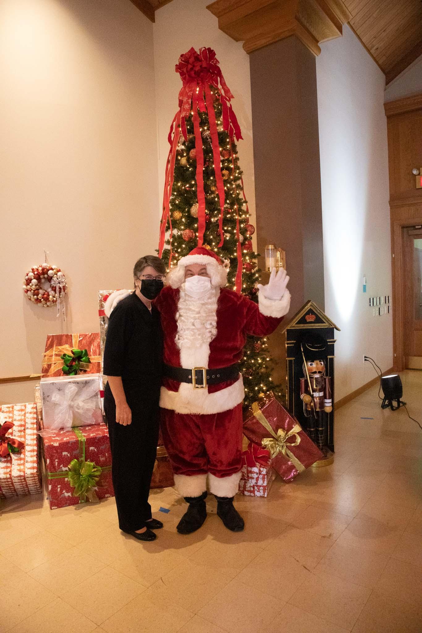 Barbara and Santa