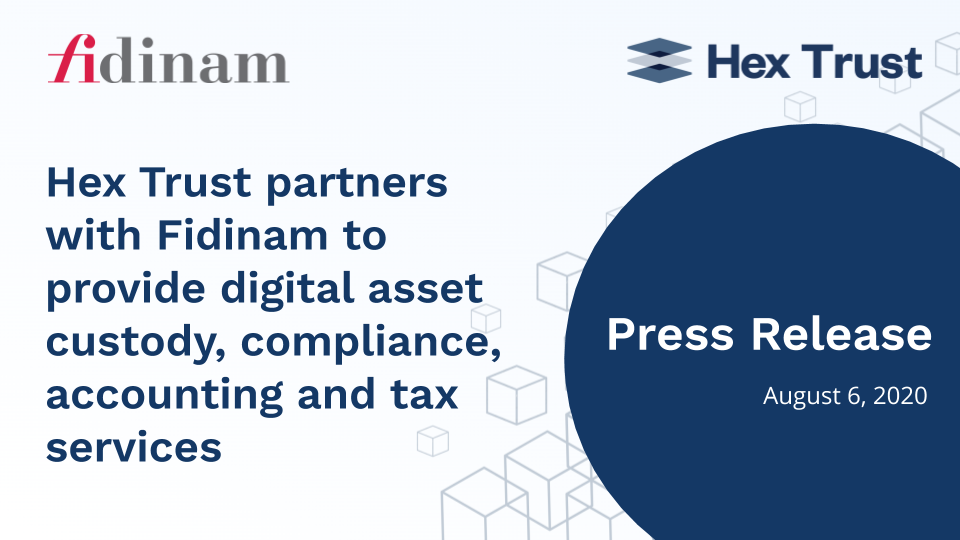 Hex Trust partners with Fidinam to provide digital asset custody, compliance, accounting and tax services