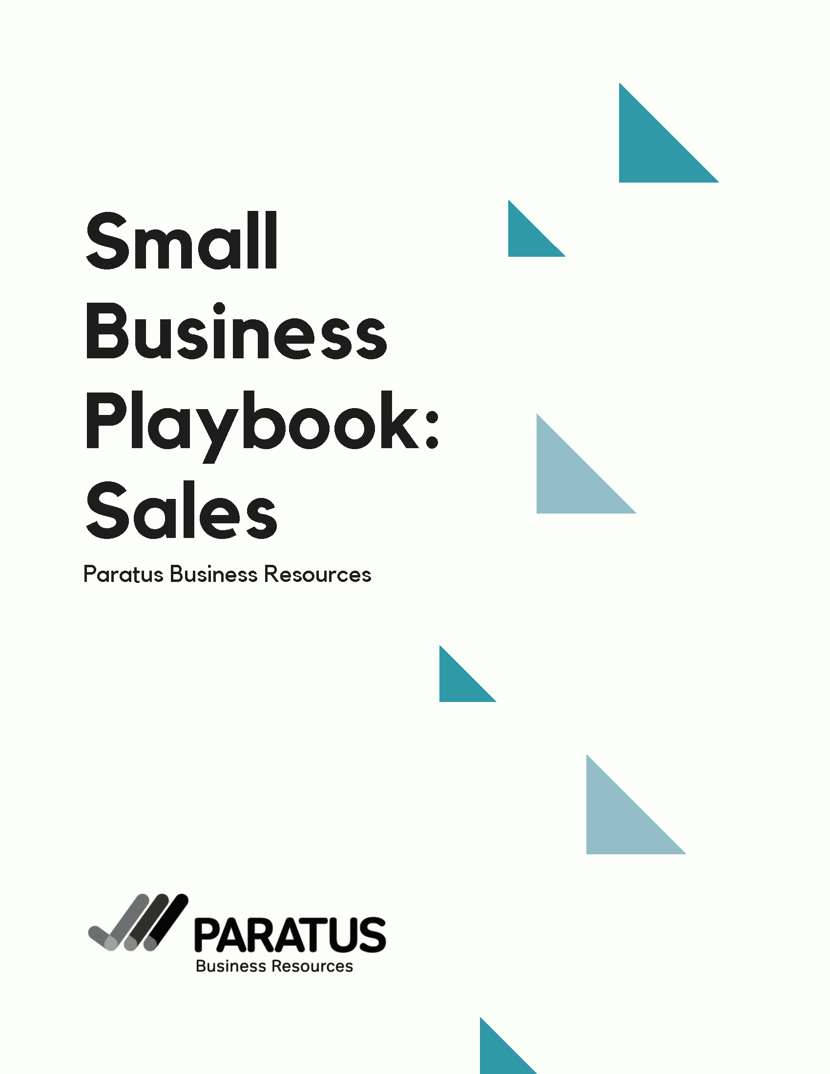 Title page of Small Business Playbook: Sales