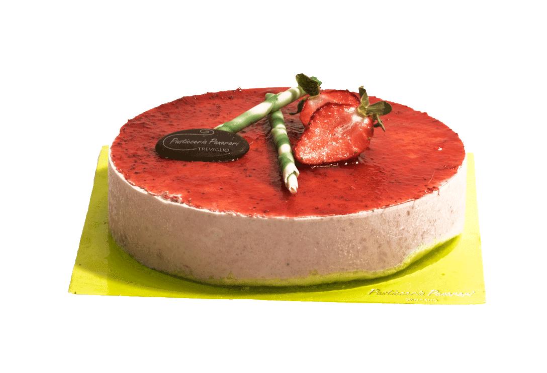 Cheesecake  fragola, pasticceria Panarari