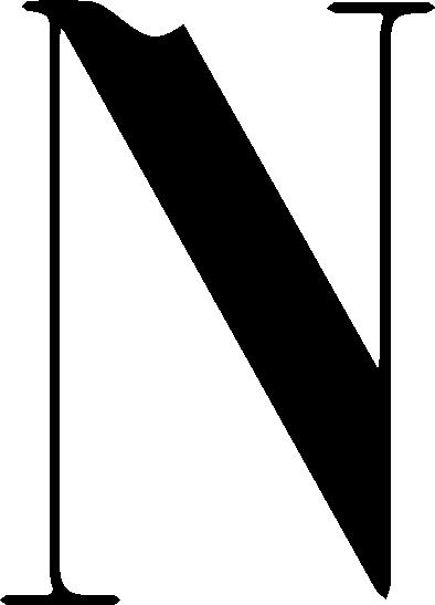N testo logo