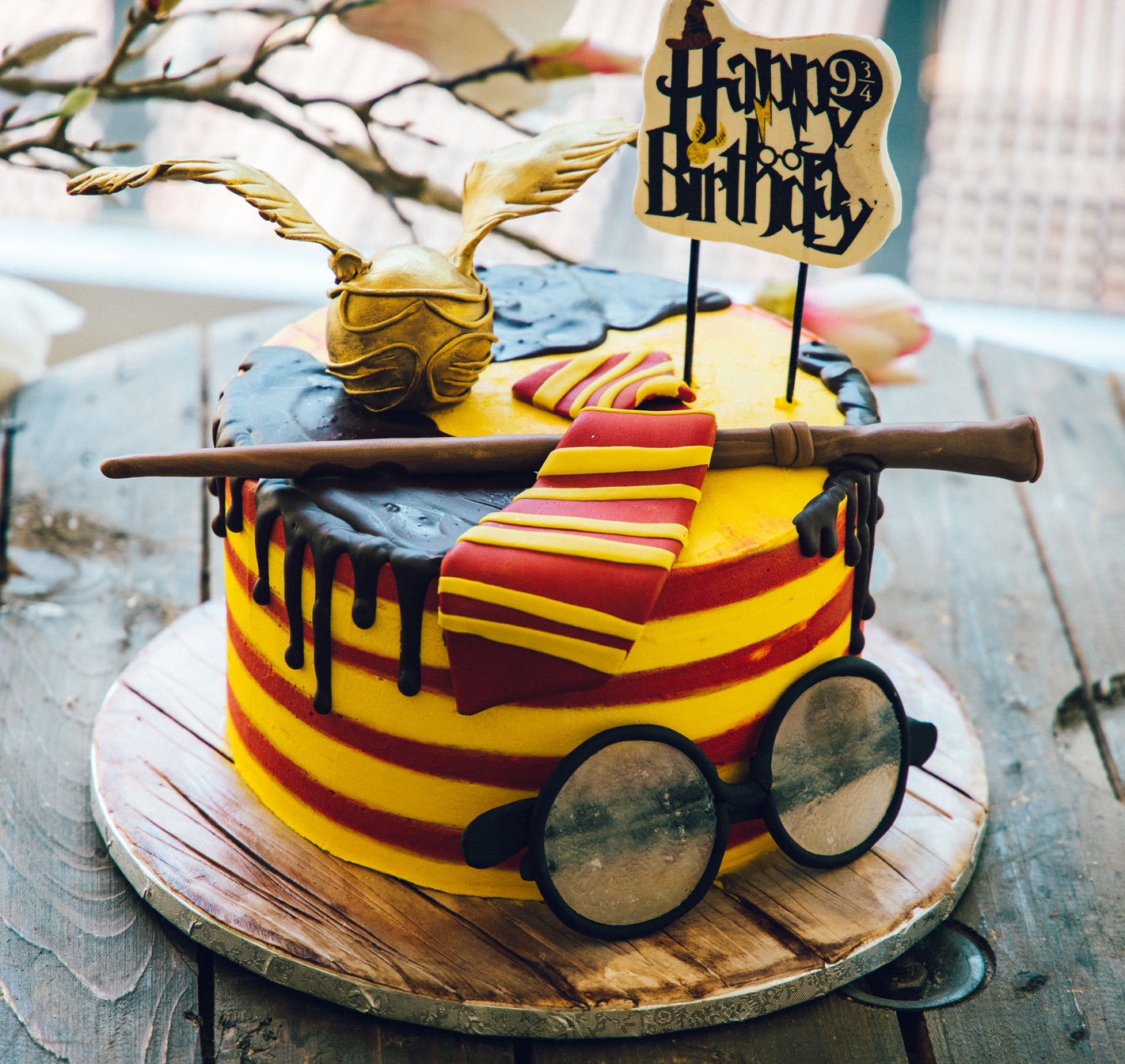 Torta Harry Potter, pasta di zucchero