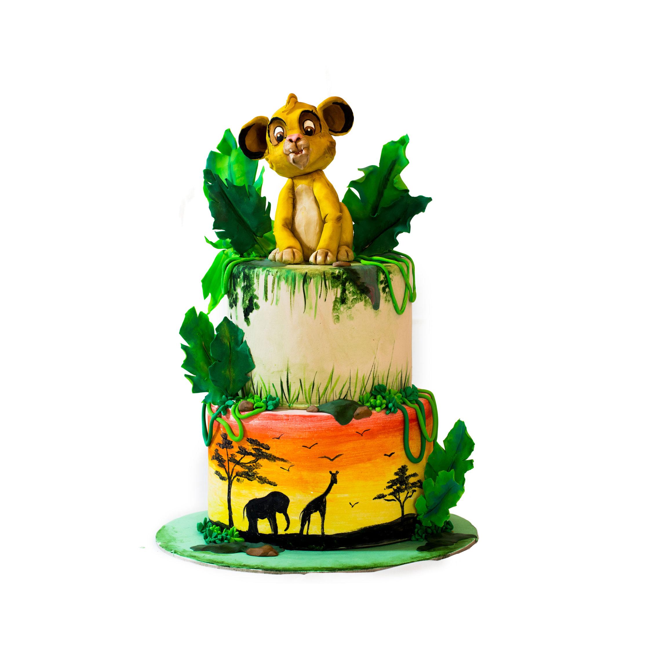 Torta re leone, pasta di zucchero