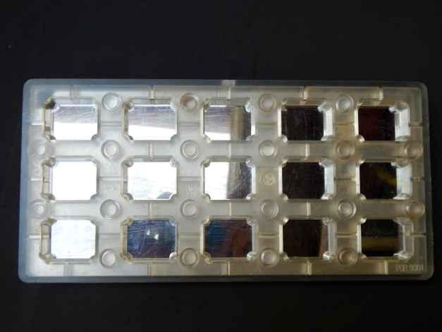 Molde magnético policarbonato bombom retangular para transfer
