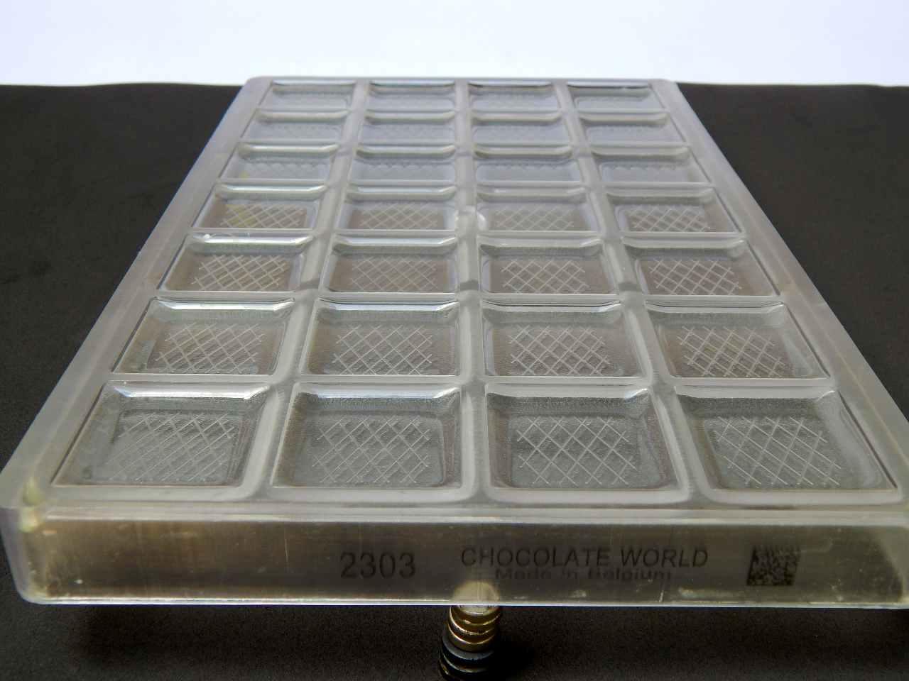 Molde policarbonato bombom plaquinha quadrada