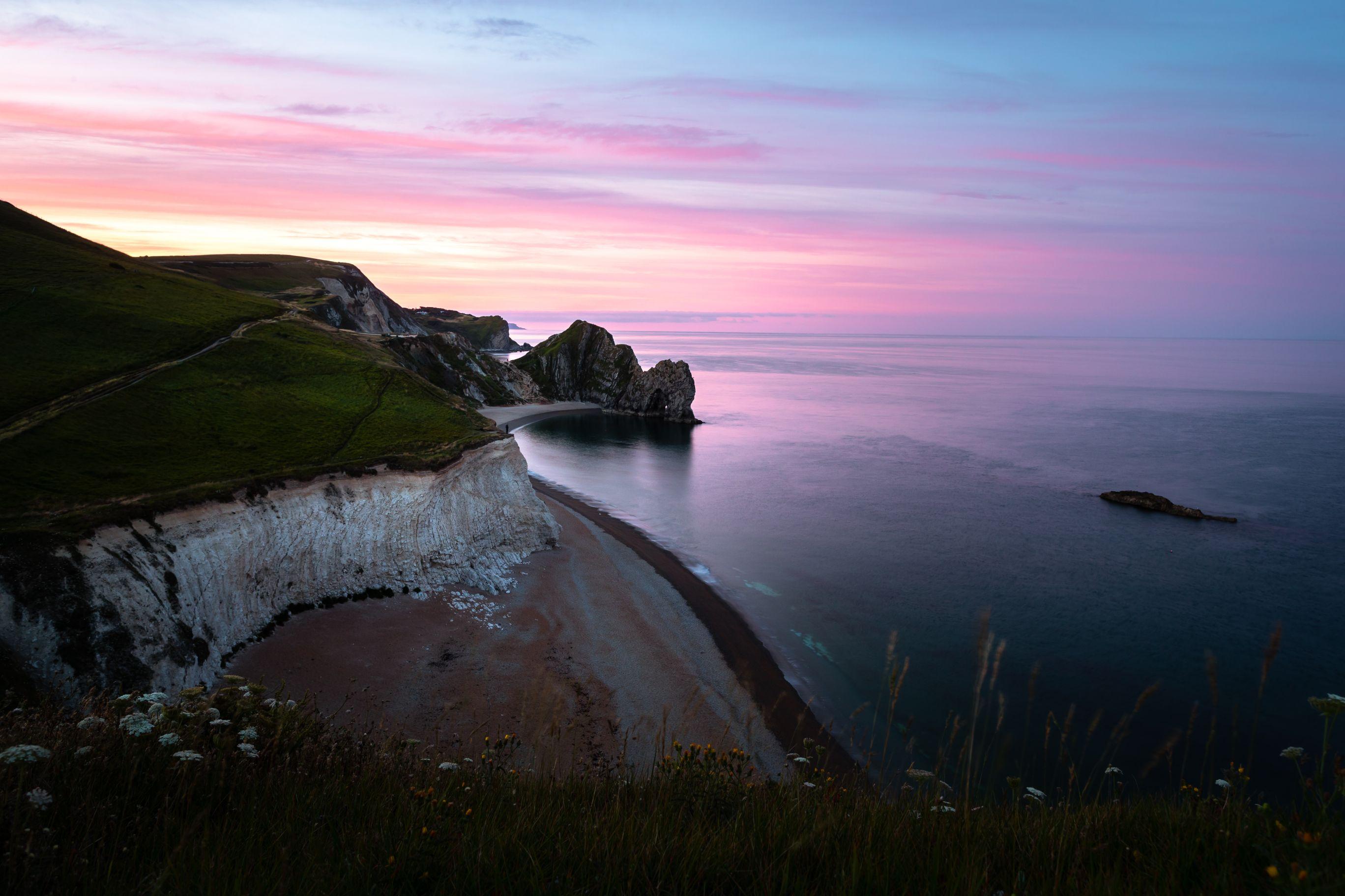 Sunset landscape at the beach.