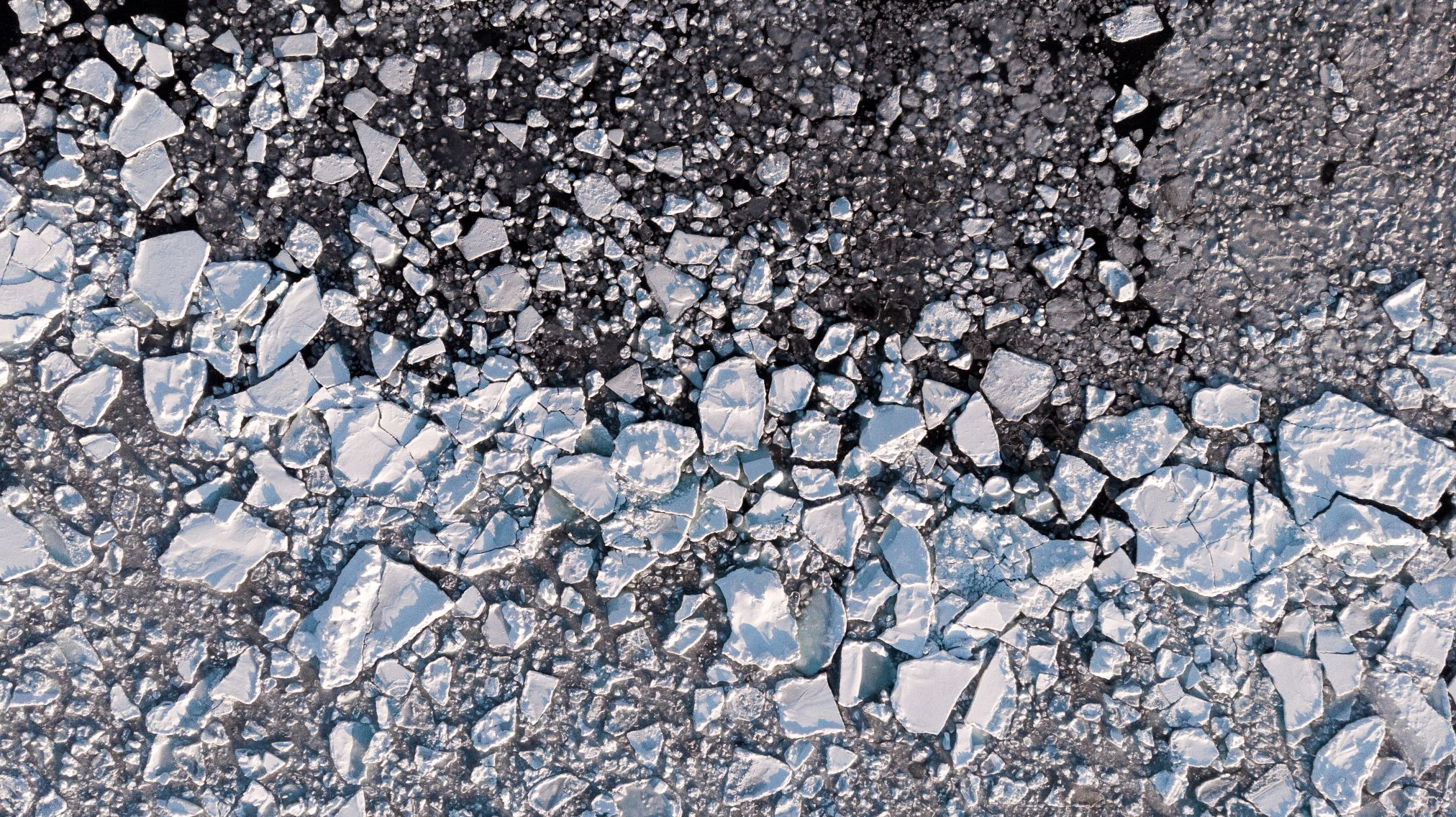 Aerial view of see ice.