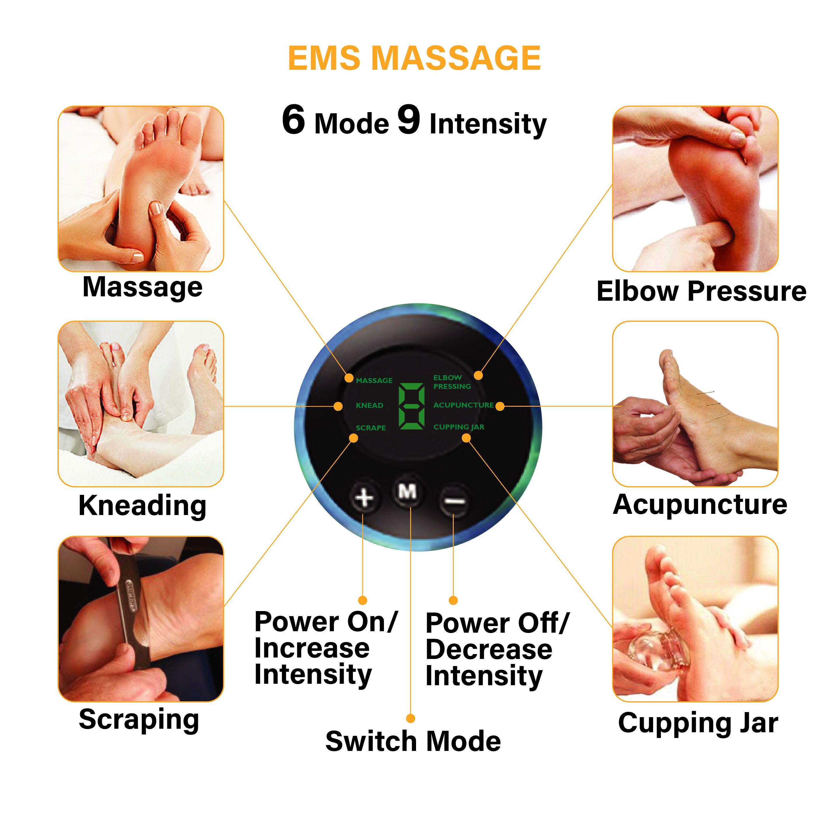 ems foot massager 6 modes 9 intensities