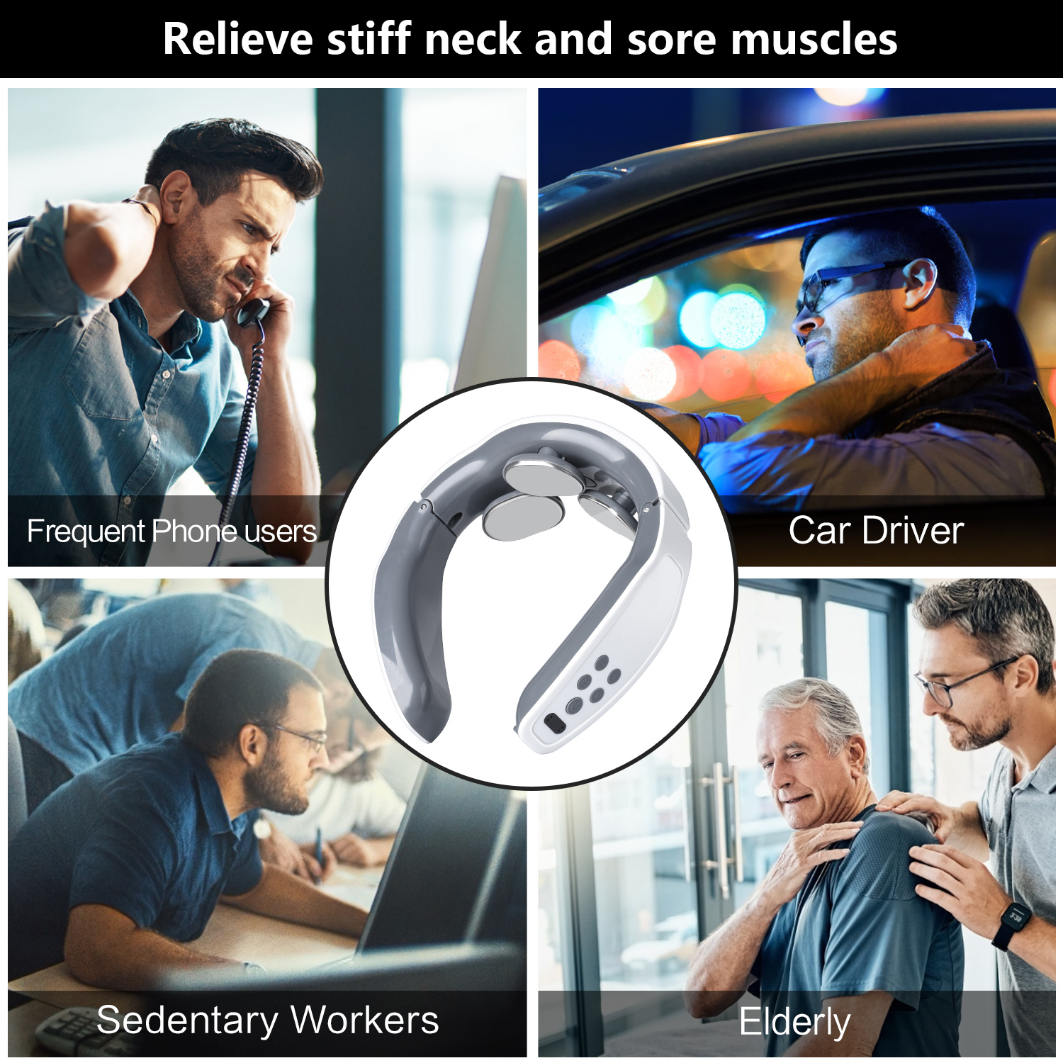 neck massager relieve sore muscle