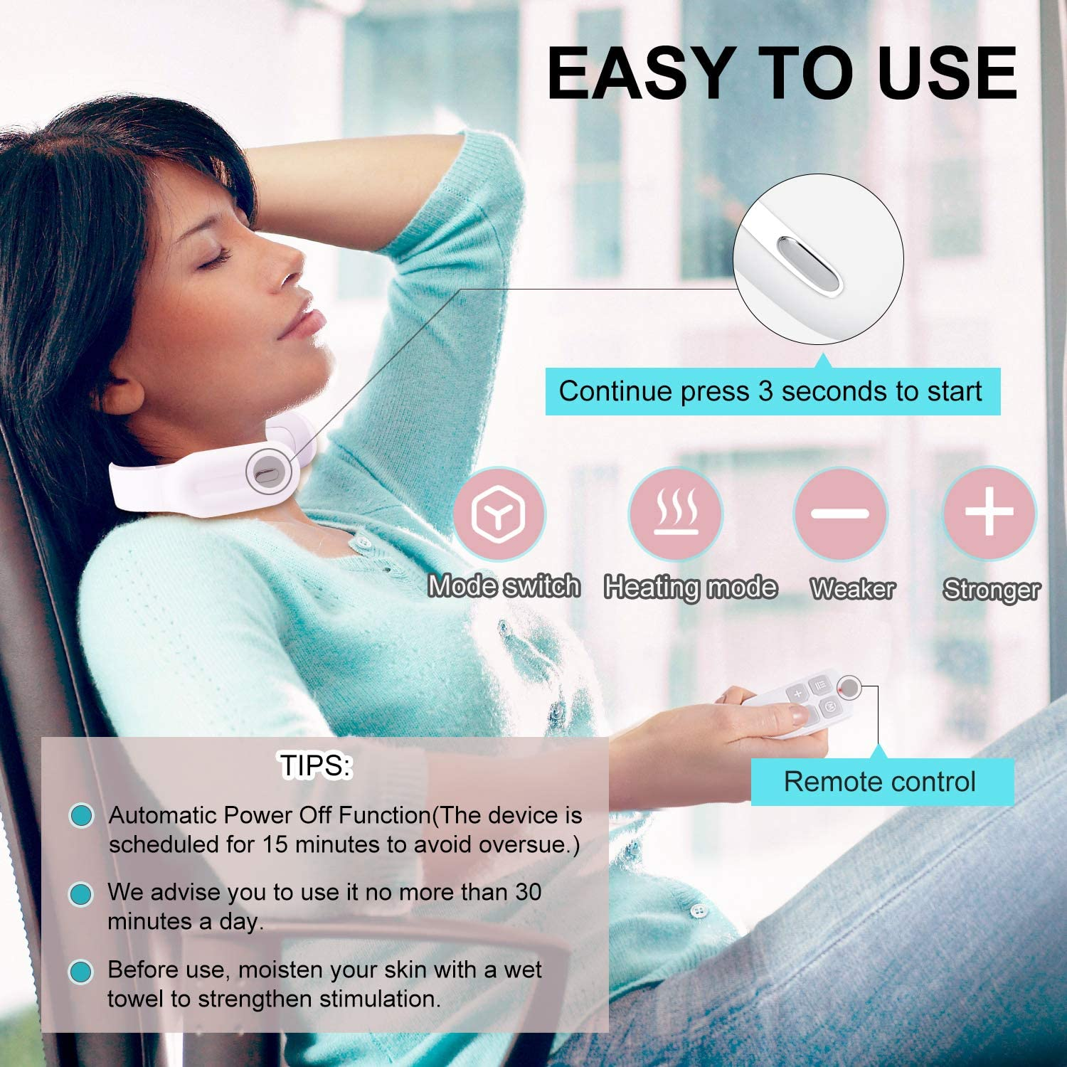 smart neck massager easy to use