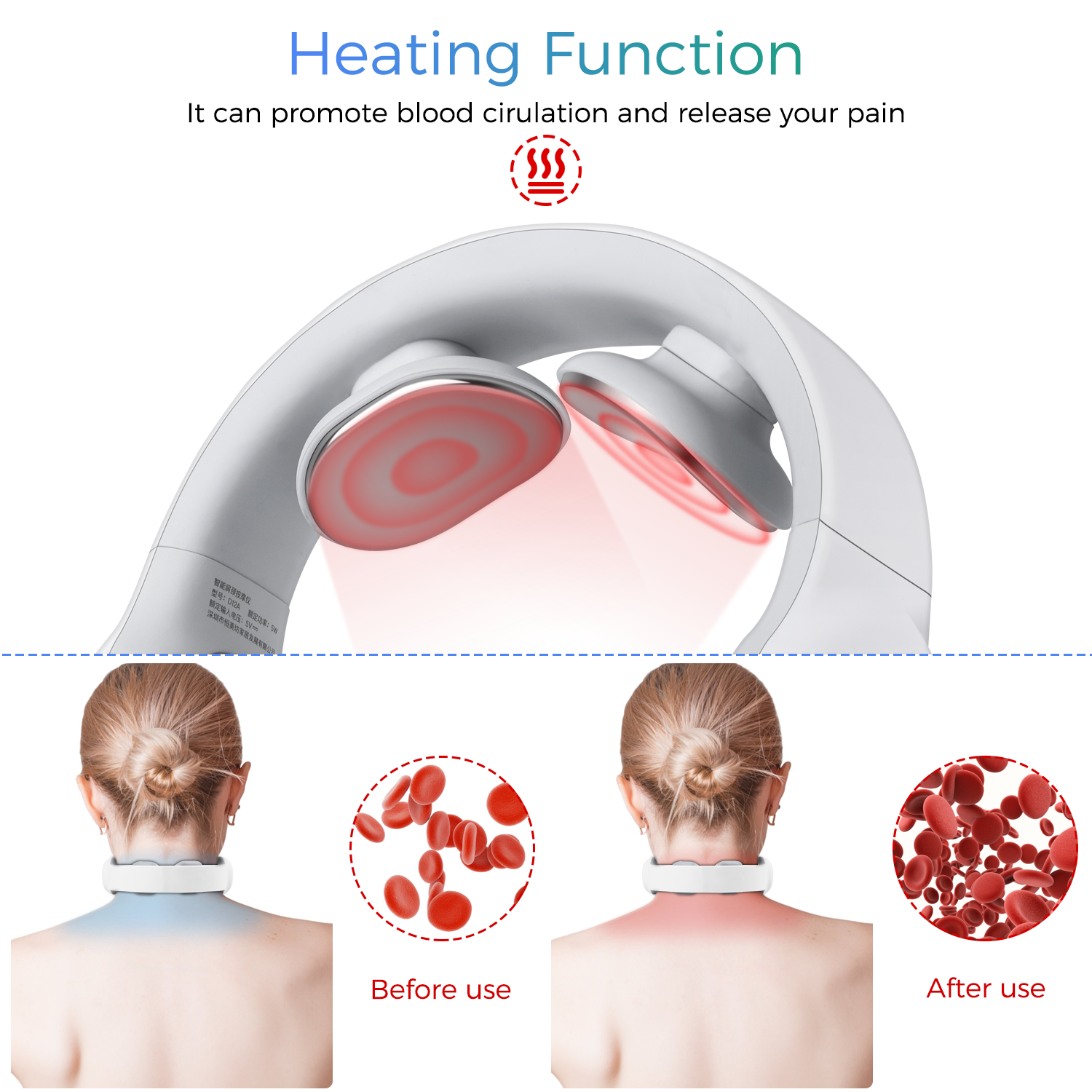 neck massager heating function