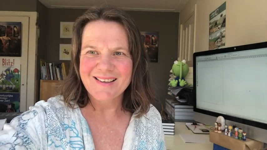 Schrijfster Rian Visser stelt zich voor als Schrijver op je Scherm