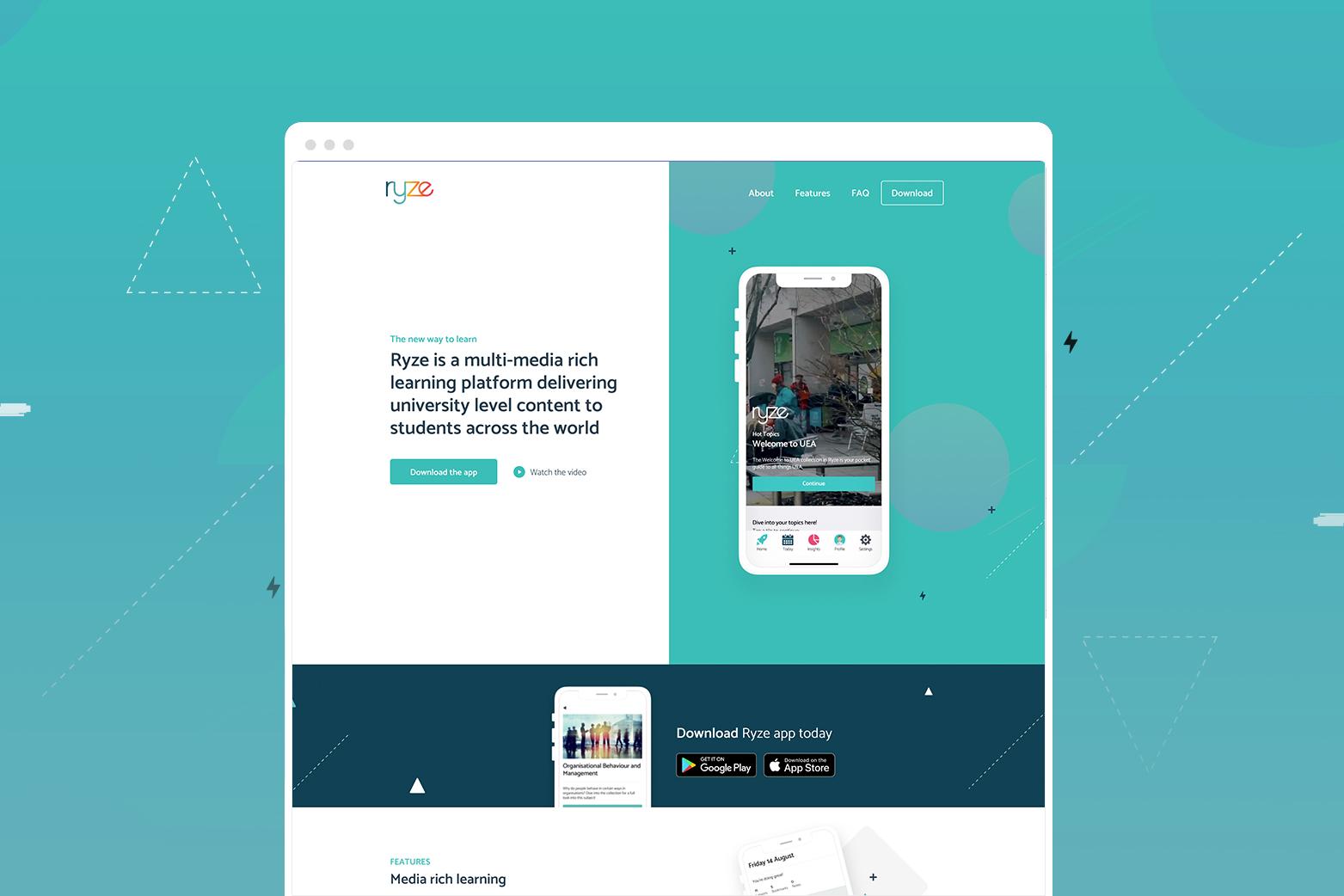 Ryze App Website