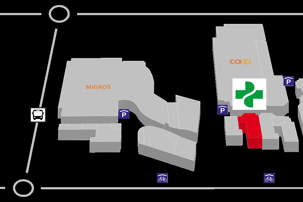 Lageplan Apotheke Surseepark