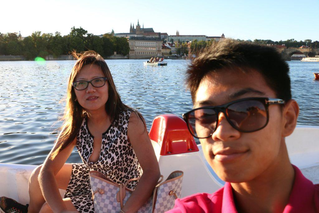 Prague Castle from Vltava River