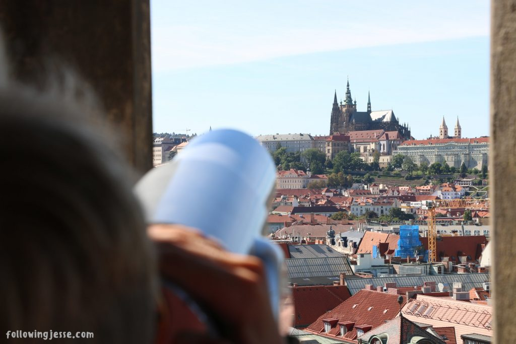 Prague Castle from Old Town Hall