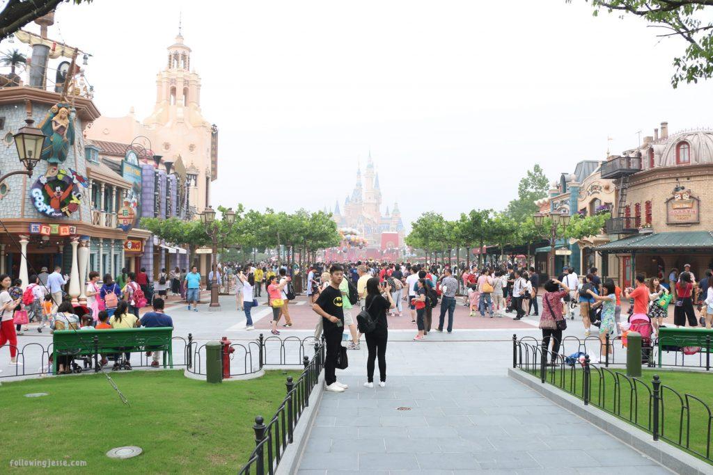 Disneyland shanghai entrance grand opening