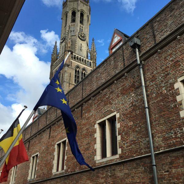 Bruges Belfry from hotel