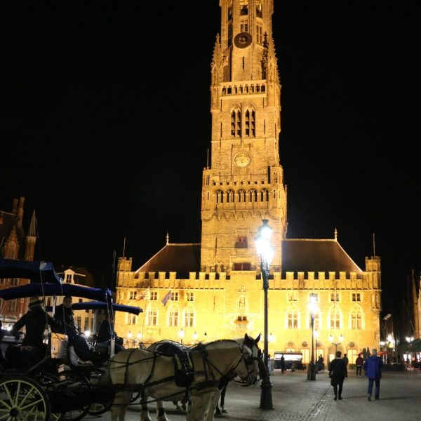 Belfry of Bruges during the Night