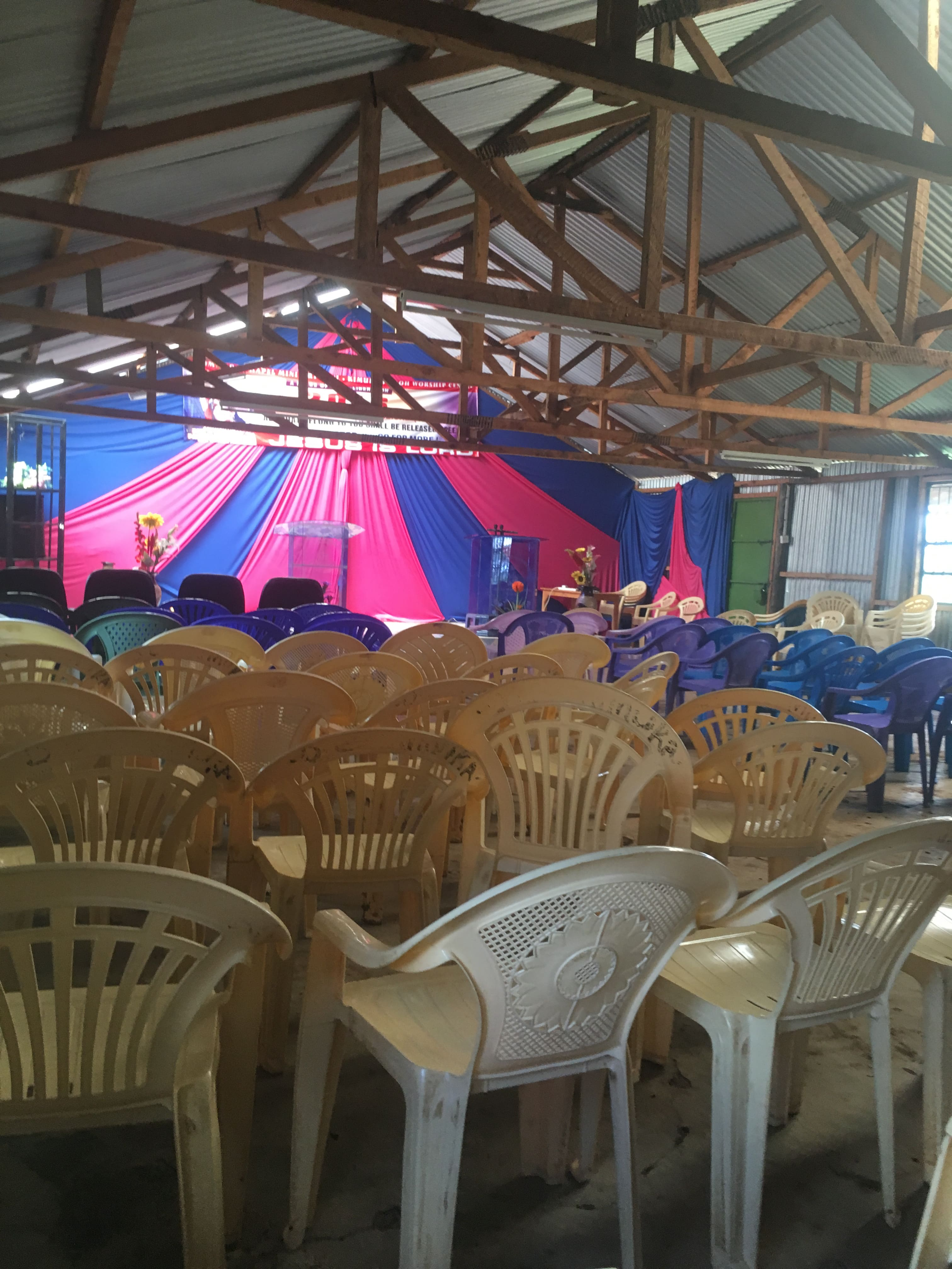 Maasai kenya interior church
