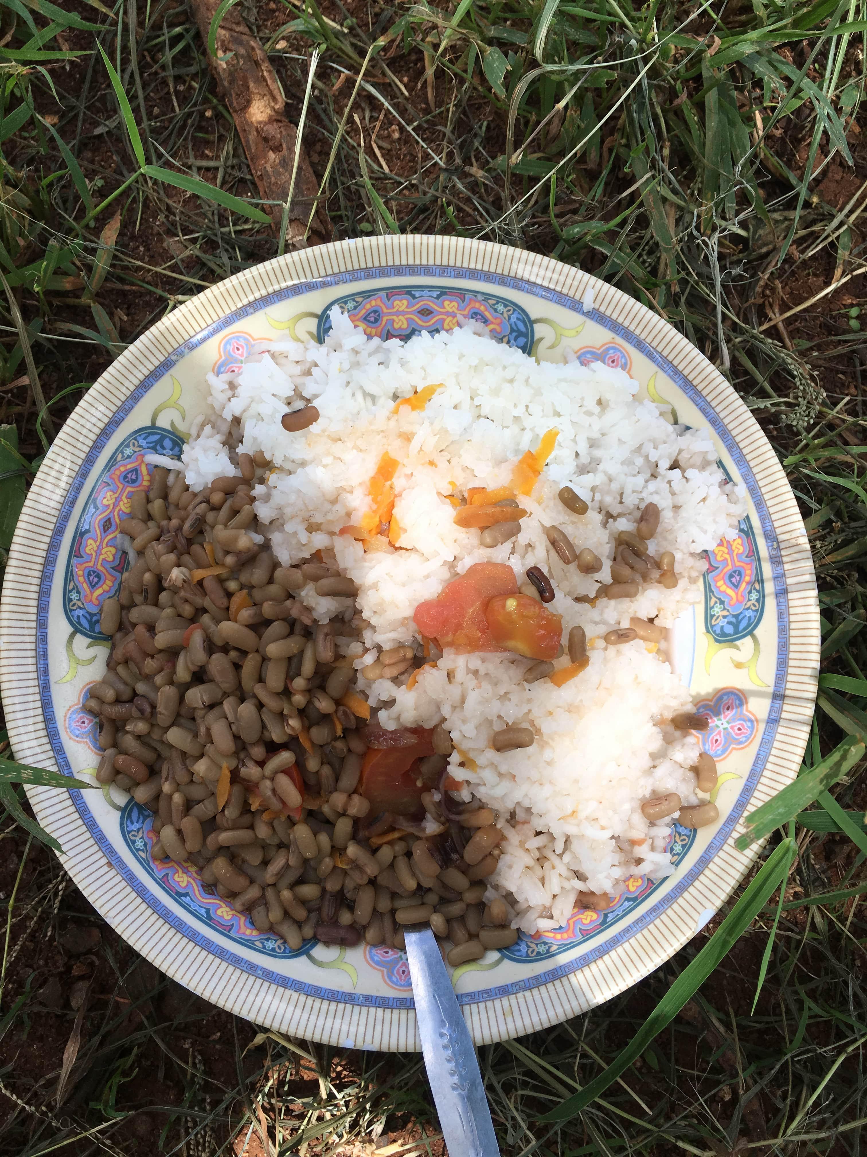 Rice and lentils kenya food
