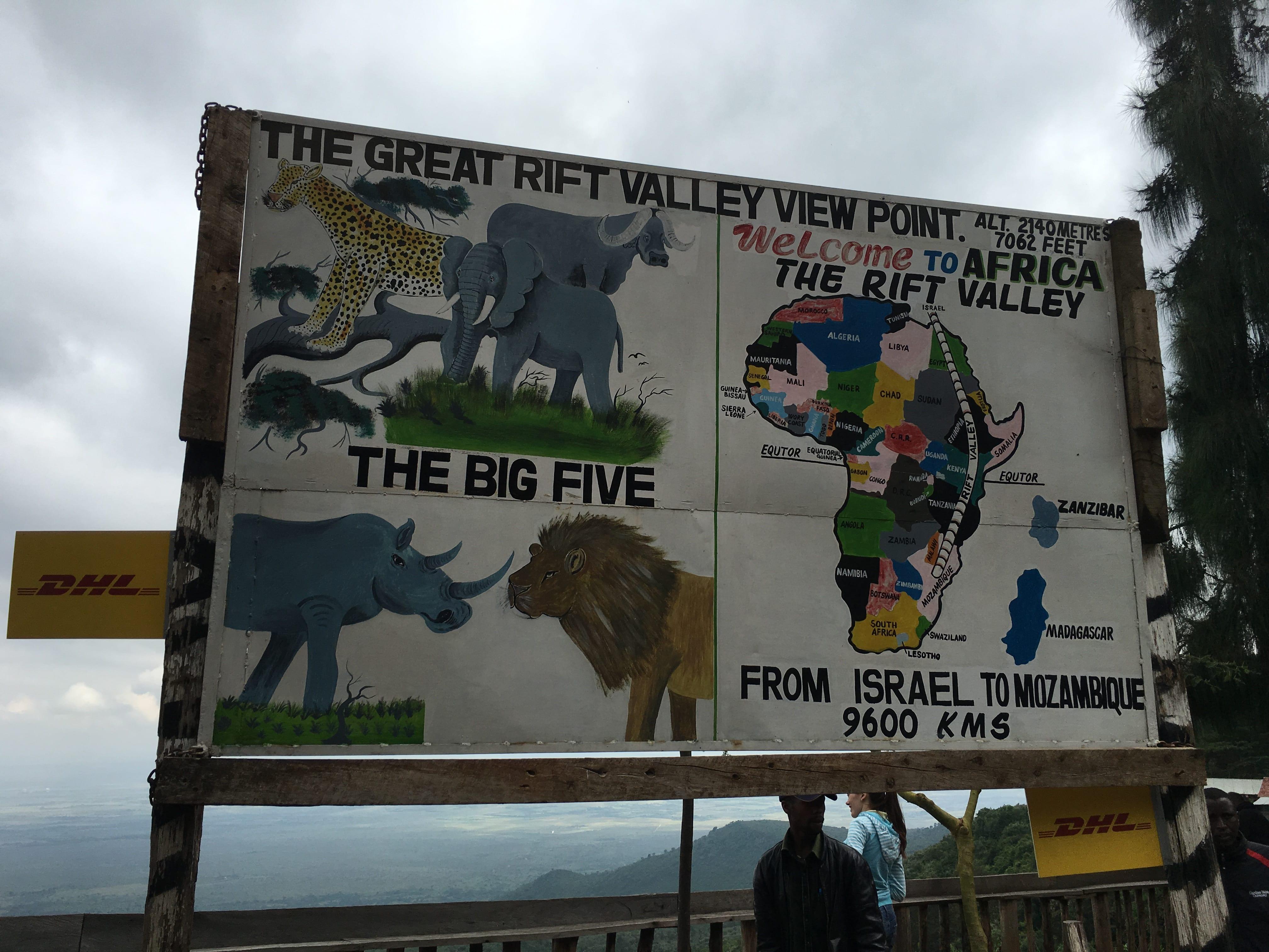 Rift valley sign kenya